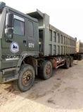 Gebruikte Wheel HOWO Heavy Dump Cargo Truck (8*4, 12Tyres, diesel-motor)