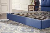 2017 het Moderne Zachte Bed van het Leer van het Frame van het Meubilair van de Zaal van het Bed Houten