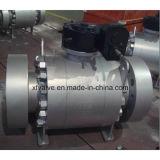 La talla grande de acero forjada ensanchó vávula de bola de la operación del engranaje del extremo