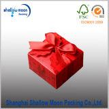 Коробка упаковки бумаги сердца молока белая с красным Bowknot (QY160369)