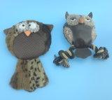 プラシ天のペットのフクロウのおもちゃ
