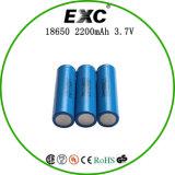 18650 3.7V 2200mAh zylinderförmige Lithium-Ionenbatterie