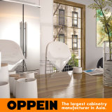 Oppeinの製造業者の白いL字型ラッカー木製の食器棚(OP15-L24)