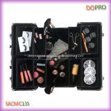 Maleta de gran capacidad del modelo caliente de la cebra para el maquillaje profesional (SACMC135)