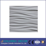 Papel pintado de PVC 3dimensional Tablero de pared Decoración interior