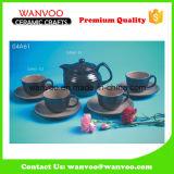전통적인 디자인 현대 사기그릇 커피 세트 차 세트