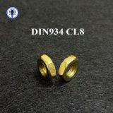도금되는 DIN934 Class8 육 견과 황색 아연