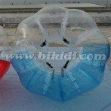 Crazy Sport! ! ! Hot Sale Half Color TPU ballon gonflable à bille de football à taille humaine, Boucle boule D5018