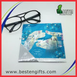 Trapo de limpieza impreso de vidrios de Microfiber, trapo de limpieza de la lente