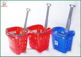 Panier à provisions en plastique avec la poignée en métal (JT-G07)