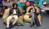Neuer Entwurf kundenspezifisches buntes im FreienSchlafsack-Luftsack-Sofa kampierendes Laybag