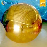 الزخرفية نفخ البسيطة مرآة الذهب والفضة الأحمر ديسكو كرات 2M نفخ مرآة الكرة