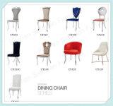 2016의 현대 우단 의자는 유리 6 사람들 식탁을 지운다