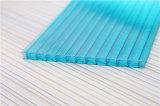 Hojas de la depresión del policarbonato de Multiwall para el material Ultravioleta-Resistente del invernadero