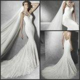 Платье венчания Wd077 Tulle Bridal мантии Mermaid шнурка отвесное