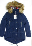 Dame-Winter-Auffüllen-Umhüllung/Mantel mit Detachble Pelz-Haube
