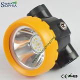 faro di 2.2ah LED, lampada del casco, lampada di sicurezza, lampada da miniera