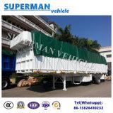 el 13m acoplado de Cargo Van Semi Truck de la pared lateral de 3 árboles resistente