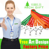 Eco-Friendly Printing Nylon 또는 Minimum Order 없이 Polyester Custom Lanyard