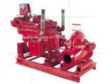 Pompe à incendie fendue énumérée par UL de cas