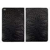 Schwarze Kästen des Webart-Muster-PU/Leather für iPad mit Schlaf/wacher Funktion
