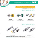Britischer Standard-medizinischer Gas-Fühler/Adapter/schnell Verbinder