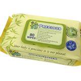 Eco-Friendly 젖은 닦음 100% 생물 분해성 대나무 섬유 아기 닦음