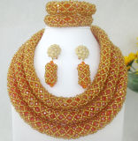 خرزة [هندمد] بلّوريّة نمو زيّ سيدات مجوهرات عقد ([س] 0850-9)