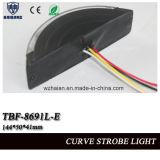 Motorrad-warnender Scheinwerfer im Kurven-Shell mit SMD LED, Muilt Spannung (TBF-8691L-E)
