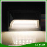 Luz sin hilos accionada solar de la noche del montaje de la pared del G-Sensor del alto brillo 5LED del detector de movimiento