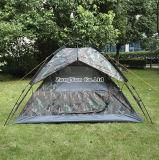3-4人のテント、屋外のキャンプテント、カムフラージュ浜のテント