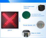 das 600mm Kreuz-Anleitungs-Anschlag gehen LED-Verkehrszeichen-Licht