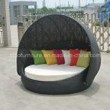 Base di giorno rotonda del rattan del giardino del patio Rb016