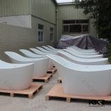 Banheira de canto autônoma da pedra da resina do projeto 2016 moderno