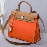 Berühmte Marken-Frauen-echte lederner Beutel-Farben-Zusammenstoß-Handtasche Emg4723