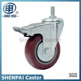 Roda de rodízio de poliuretano industrial de médio porte