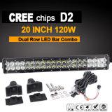luz de la barra de 20inch 120W LED para los carros (IP68 impermeables)