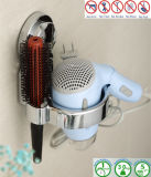 Support chaud de sèche-cheveux d'organisateur d'étagère de mur de salle de bains