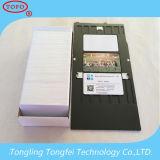 Cartão branco da identificação do PVC do Inkjet da cor