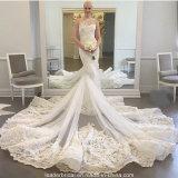 贅沢な人魚の花嫁衣装1の肩のウェディングドレスZ2020