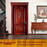 Porta cinzelada antiguidade da madeira contínua de porta de entrada (GSP2-069)