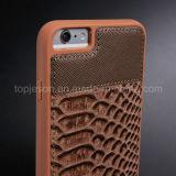 Pescado-Escalar la caja del cuero genuino del modelo para el iPhone 6 más