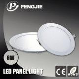 3 da garantia 6W do diodo emissor de luz anos de luz de teto com o CE (redondo)