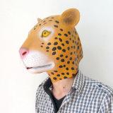 Máscara sobrecarga de látex de goma animal del leopardo del traje de Halloween