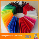 hoja de acrílico plástica del molde del color de 3m m para hacer publicidad del rectángulo ligero
