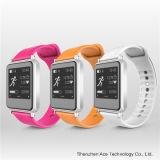 Reloj elegante colorido hermoso de Bluetooth con la supervisión de salud