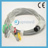 Dixtal 5 Conductores de ECG Cable con hilos conductores , Snap