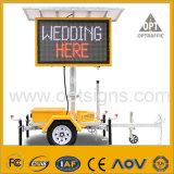 El mensaje de publicidad lateral del carro de la cartelera del tráfico de la seguridad del camino firma el panel de visualizaciones móvil de LED