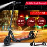 Scooter électrique de vélo électrique intelligent de pliage de deux roues (ET scooter)