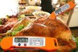 スイッチデジタル折る自動瞬間はこつの穴および磁石が付いている食糧BBQのオーブン肉プローブの温度計を読んだ